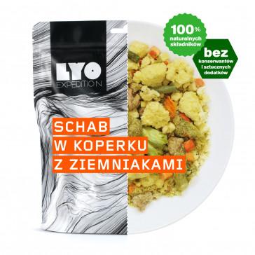 Danie obiadowe duża porcja - Schab w sosie koperkowym