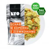 Danie obiadowe pojedyncze - Schab w sosie koperkowym