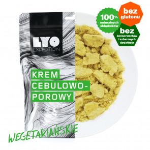 Danie wegetariańskie mała porcja - Zupa krem cebulowo-porowy