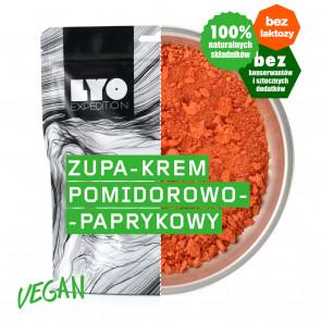 Danie wegetariańskie mała porcja - Zupa krem pomidorowo-paprykowy