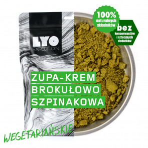 Danie wegetariańskie mała porcja - Zupa krem szpinakowo-brokułowy