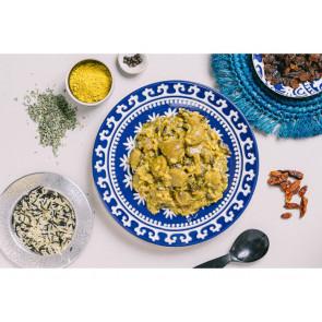 Danie obiadowe pojedyncze - Curry z mięsa sojowego
