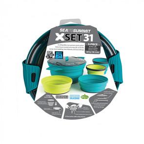 Zestaw naczyń turystycznych X-Set: 31 (X-Pot 2,8L, 2 x X-Bowl, 2 x X-Mug)